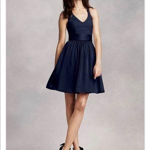 Navy dress- bridesmaid, homecoming, formal, prom